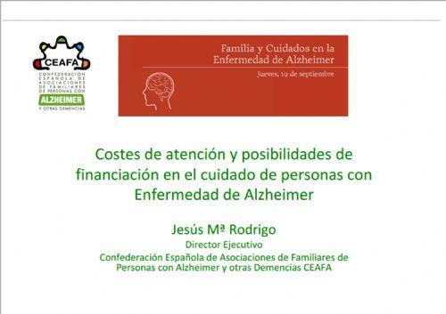 Costes de atención y posibilidades de financiación en el cuidado de personas con Enfermedad de Alzheimer
