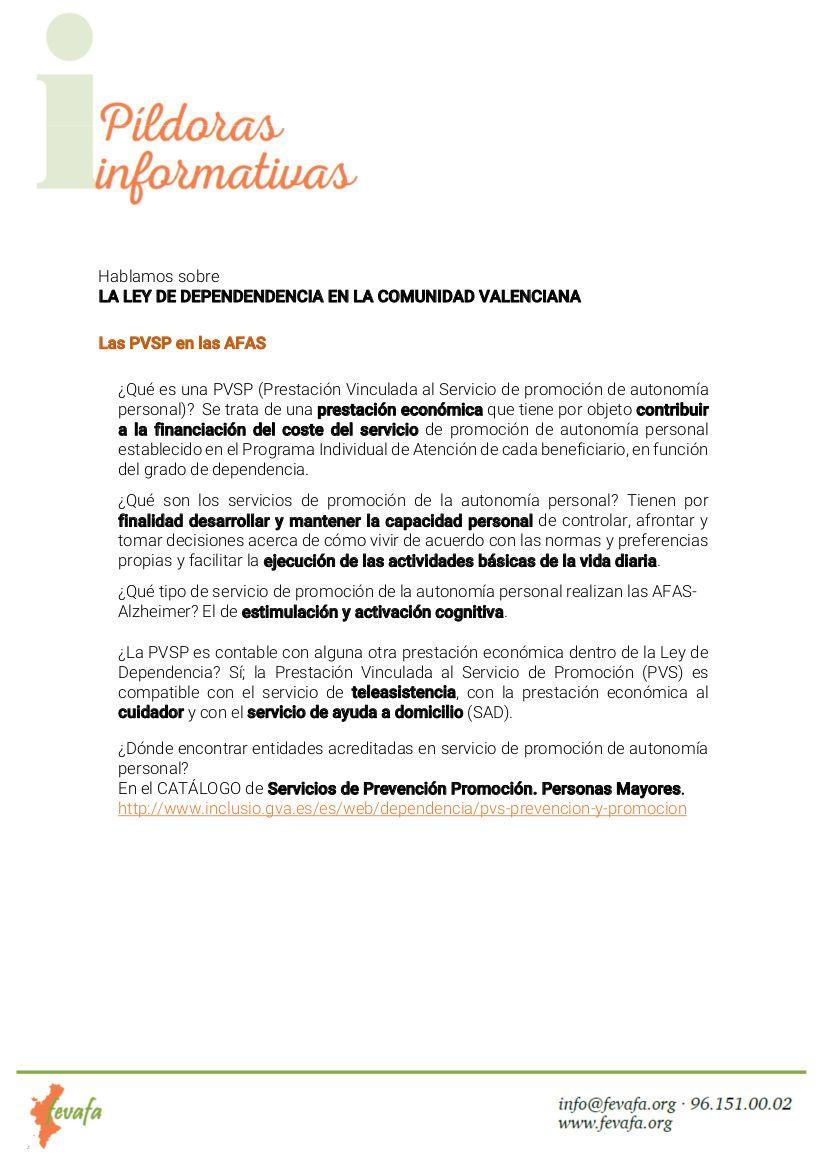 Ley de dependencia en la Comunidad Valenciana